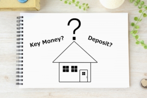 "What is the purpose of the ""deposit"" and ""key money"" for property rental in Japan?"